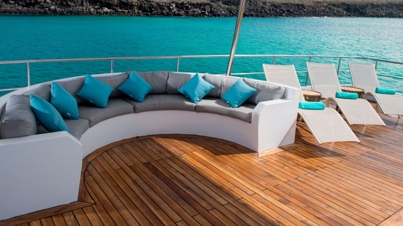 sun deck on Alya catamaran