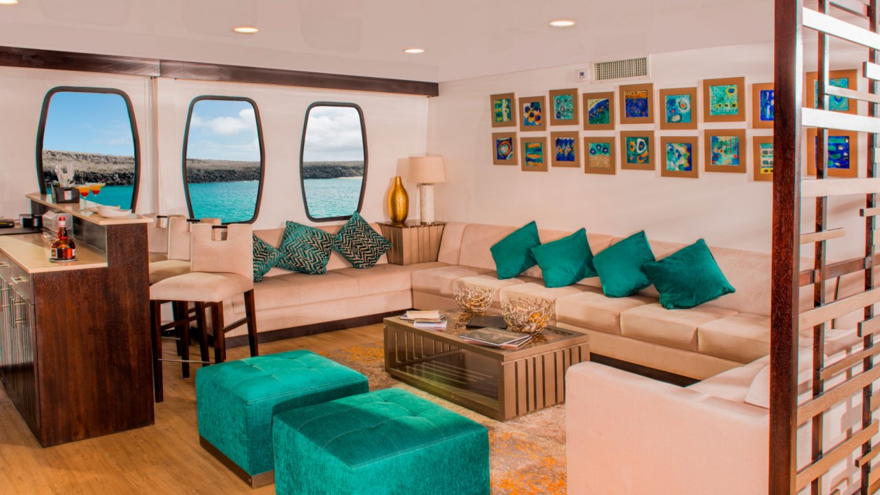 lounge on Alya catamaran