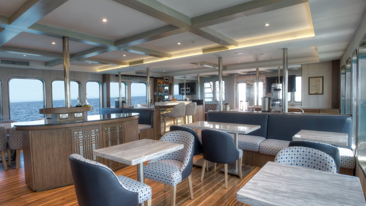 Dining on Origin Yacht
