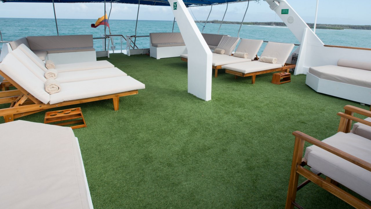 Sun deck on the Yacht Letty