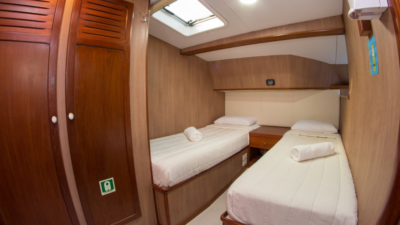 Cabin on Galapagos Catamaran