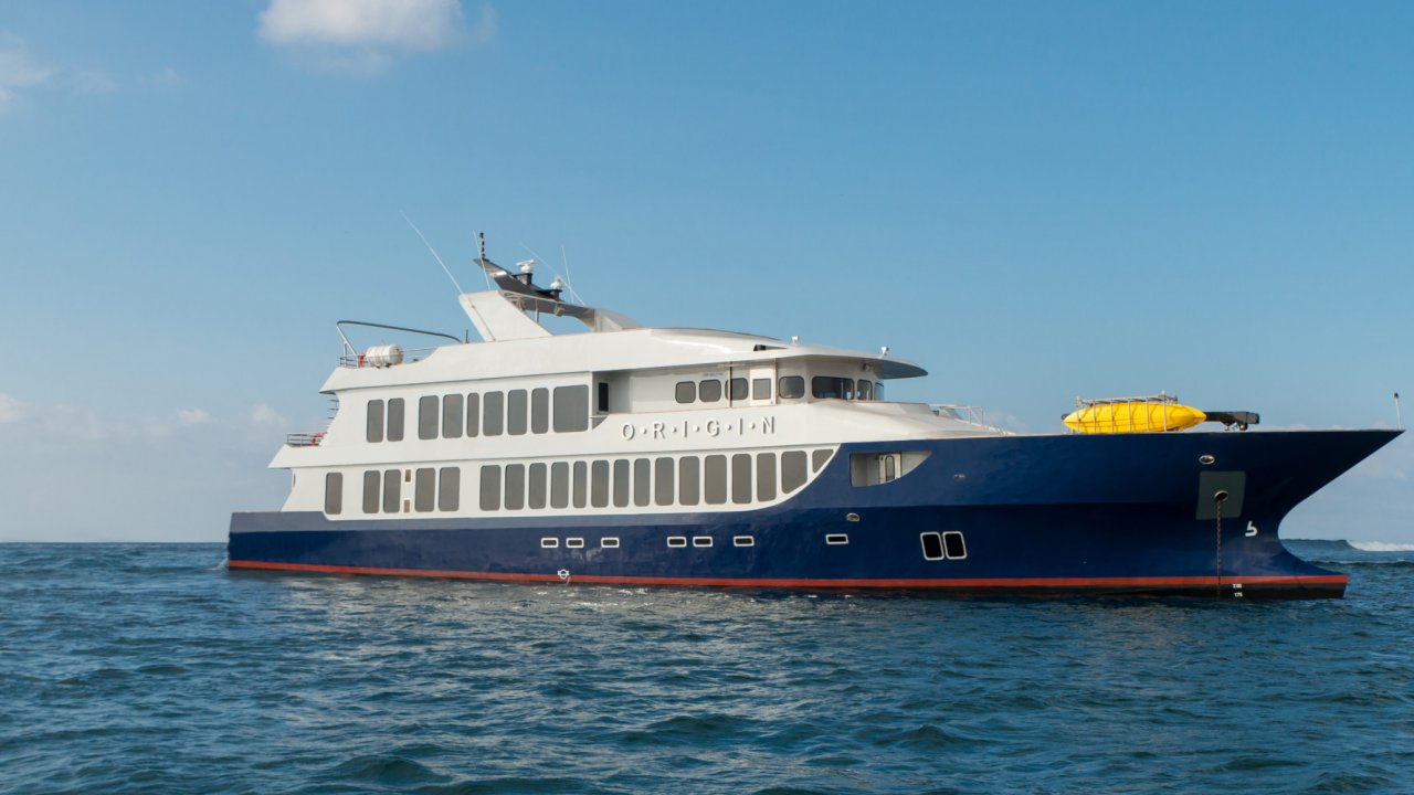 Origin Cruise Ship in Galapagos