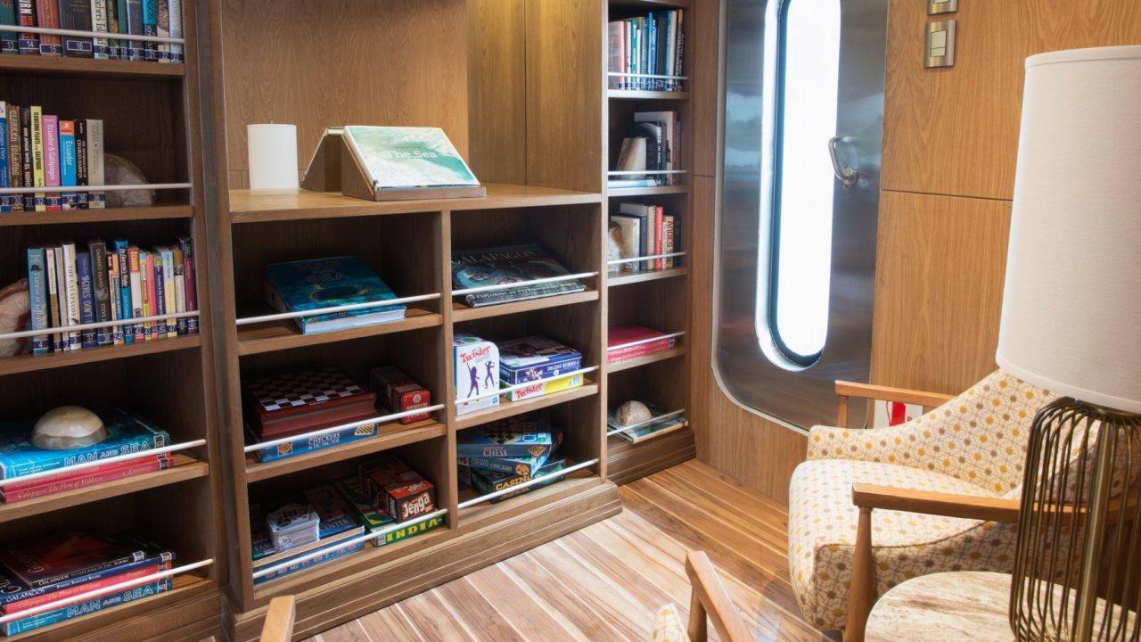 Library on Origin Cruise