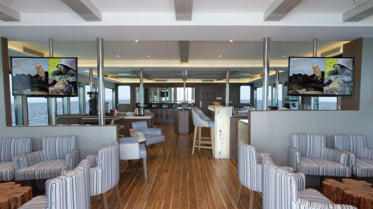 Common lounge aboard the Origin