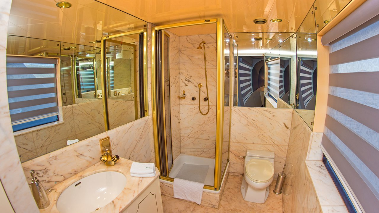 suite bathroom on the MY Passion
