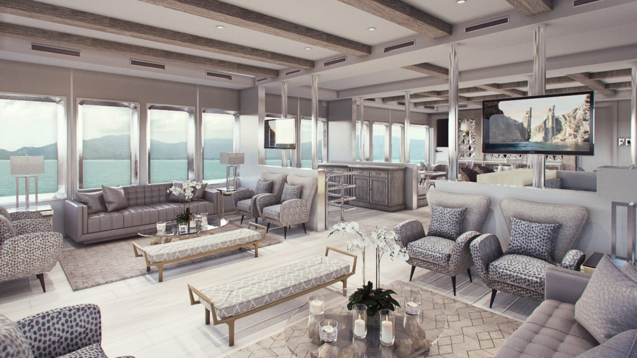 TV lounge on Galapagos Cruise