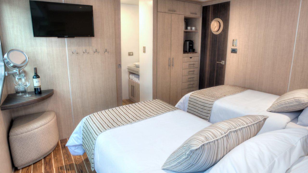 Twin Cabin on the Origin Cruise Ship