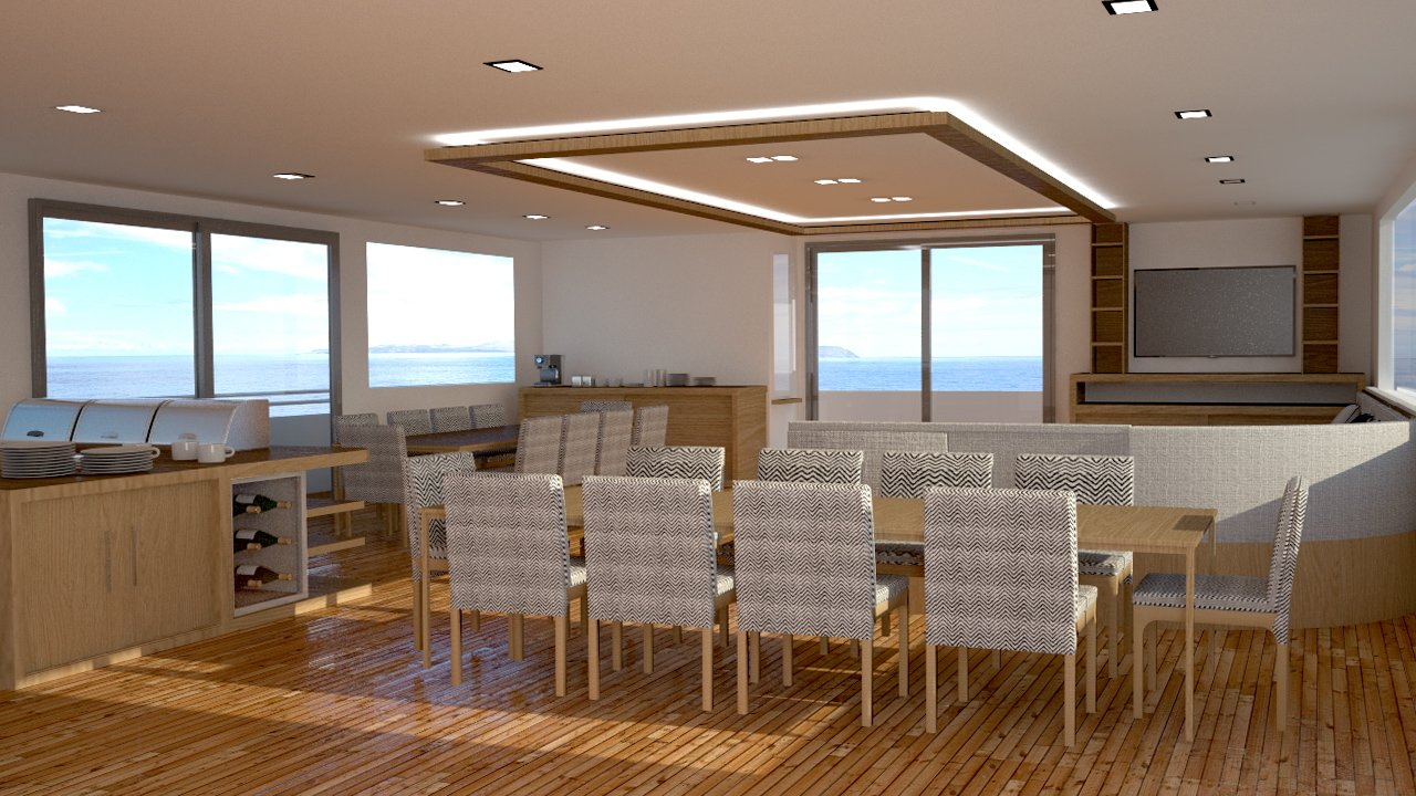 dining room on Infinity yacht