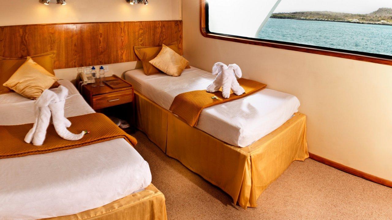 cabin on galaxy yacht