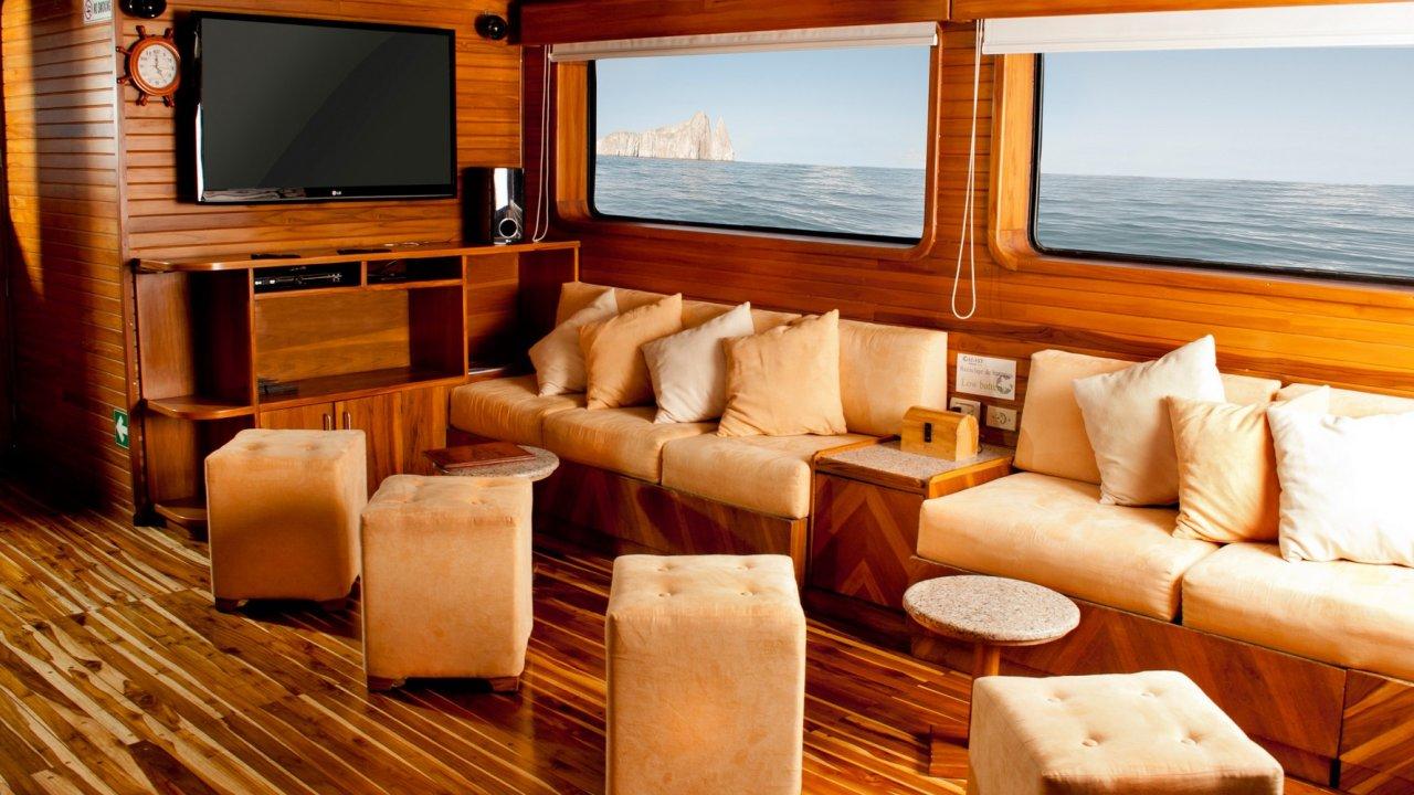 lounge on galaxy yacht