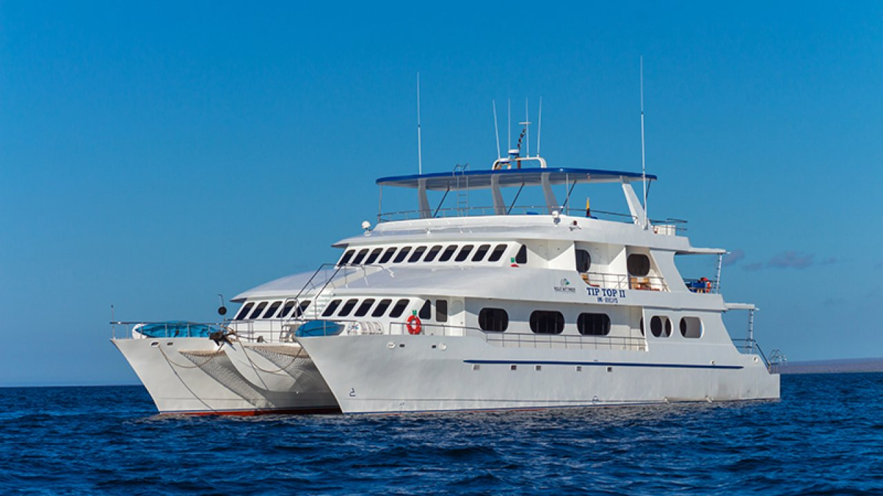Cruise the first-class catamaran Tip Top II in the Galapagos