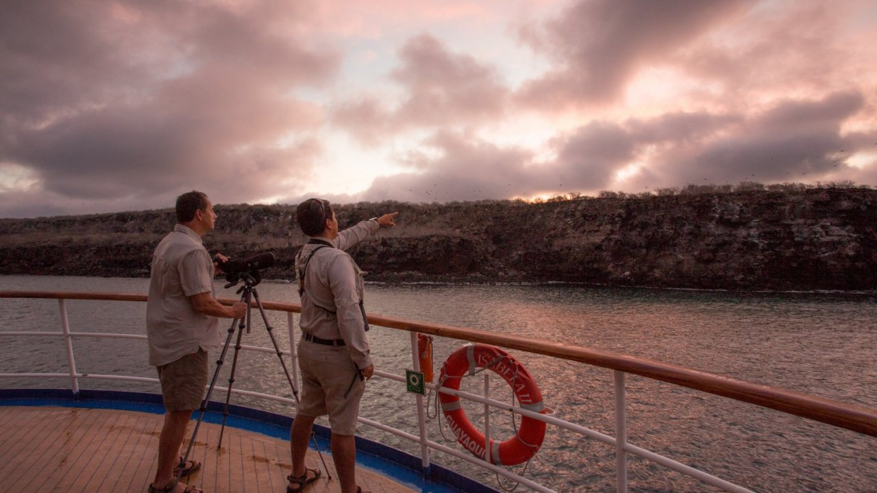 sunset in galapagos
