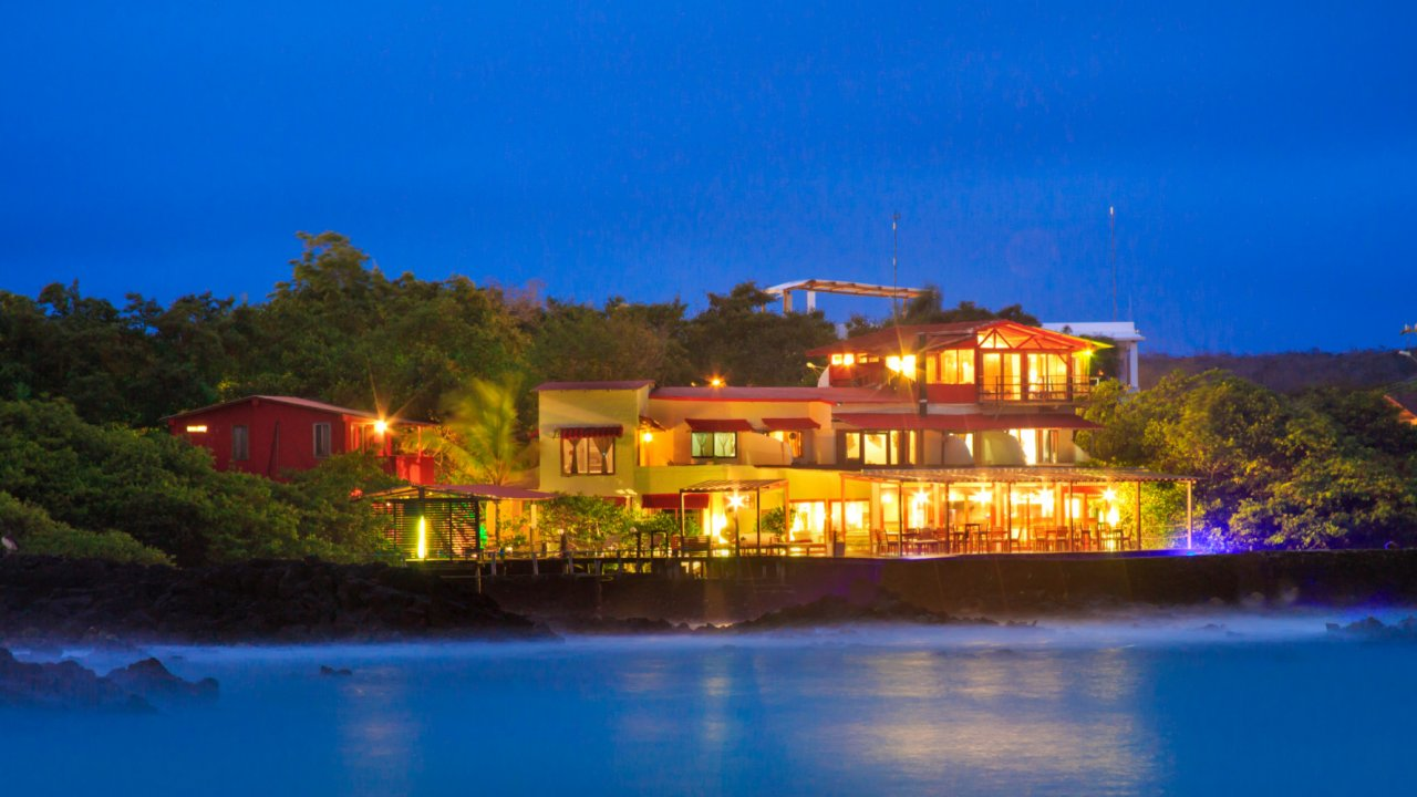 evening shot of red mangrove lodge