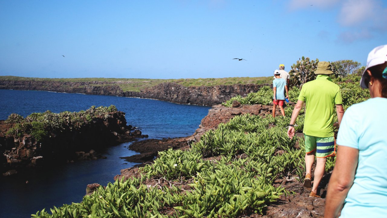 People walking in the Galapagos