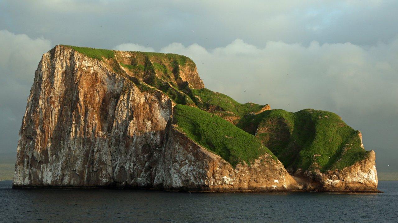 View of Kicker Rock from Ocean Spray Cruise