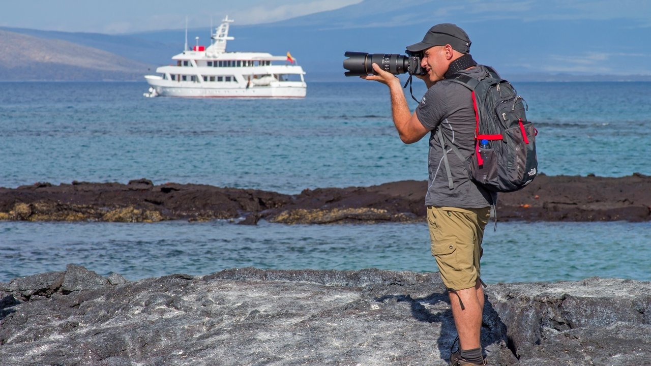Photographer in the Galapagos