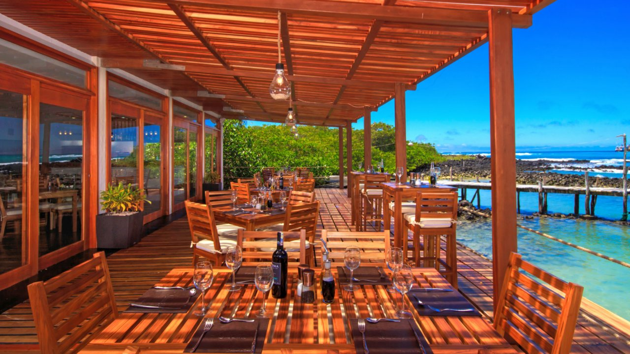 deck at red mangrove lodge galapagos