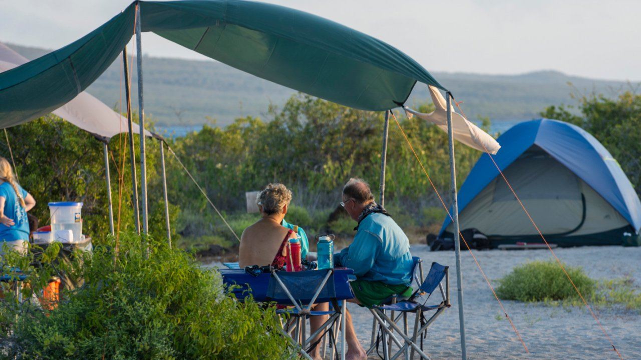 Camping in the Galápagos Islands