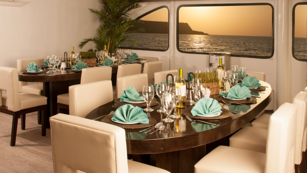 dining room on ecocatamaran