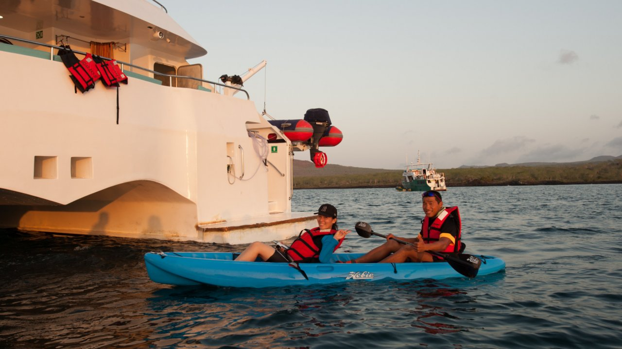 kayak in the Galapagos