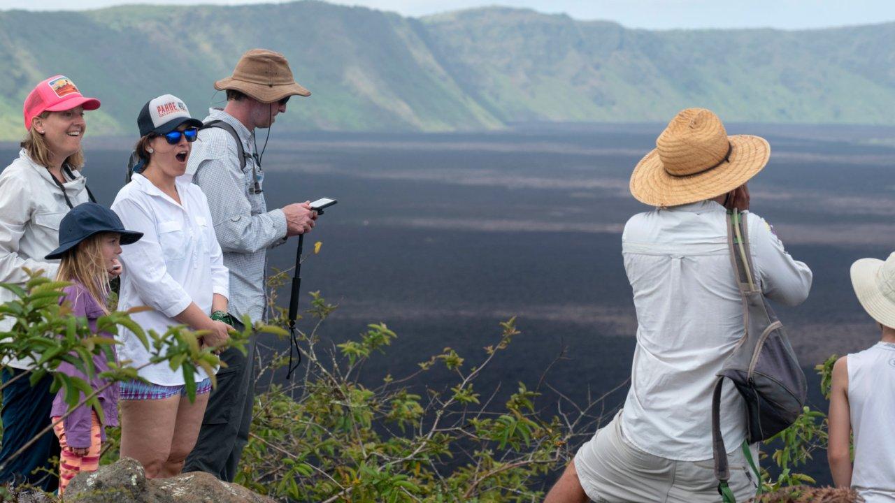 Hiking on Sierra Negra Volcano in Galapagos Islands