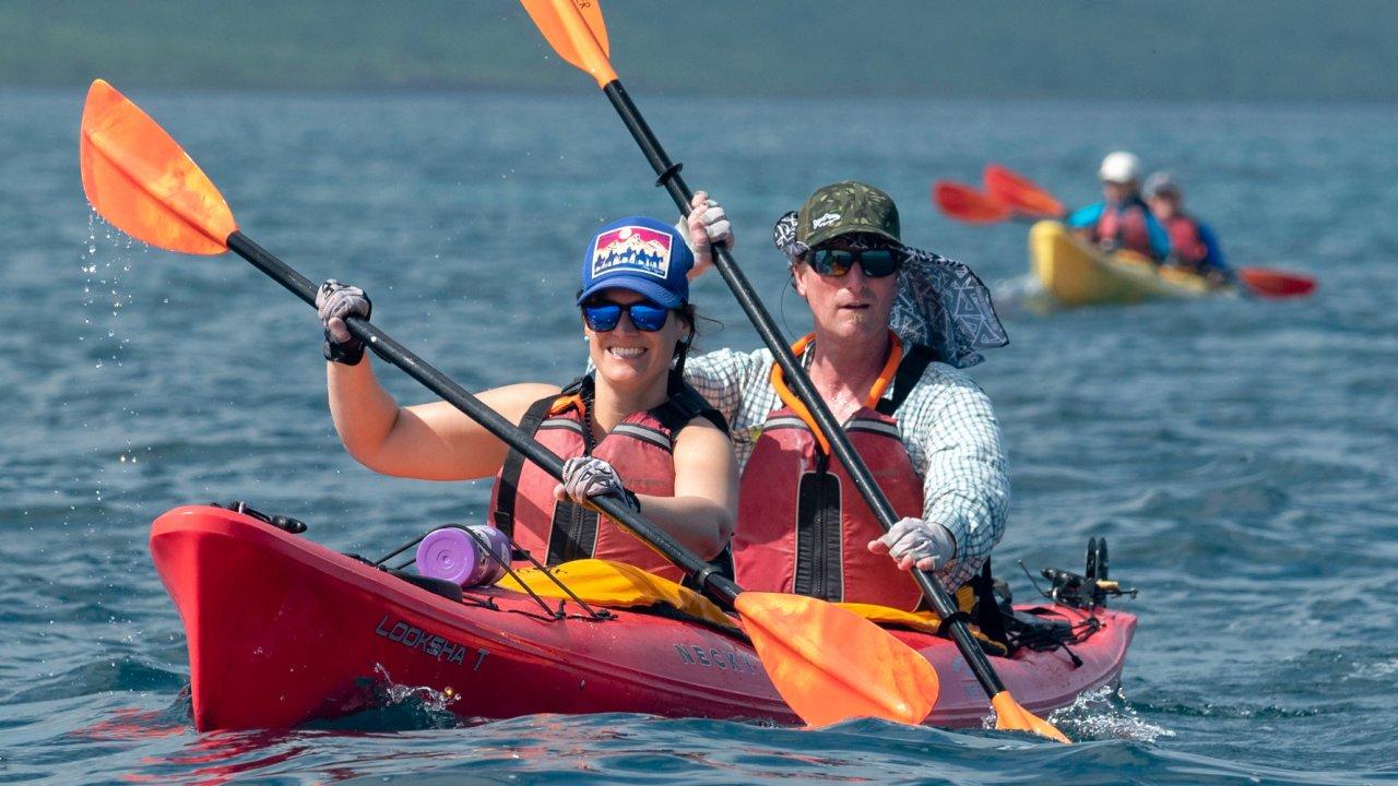 Kayaking in the Galapagos