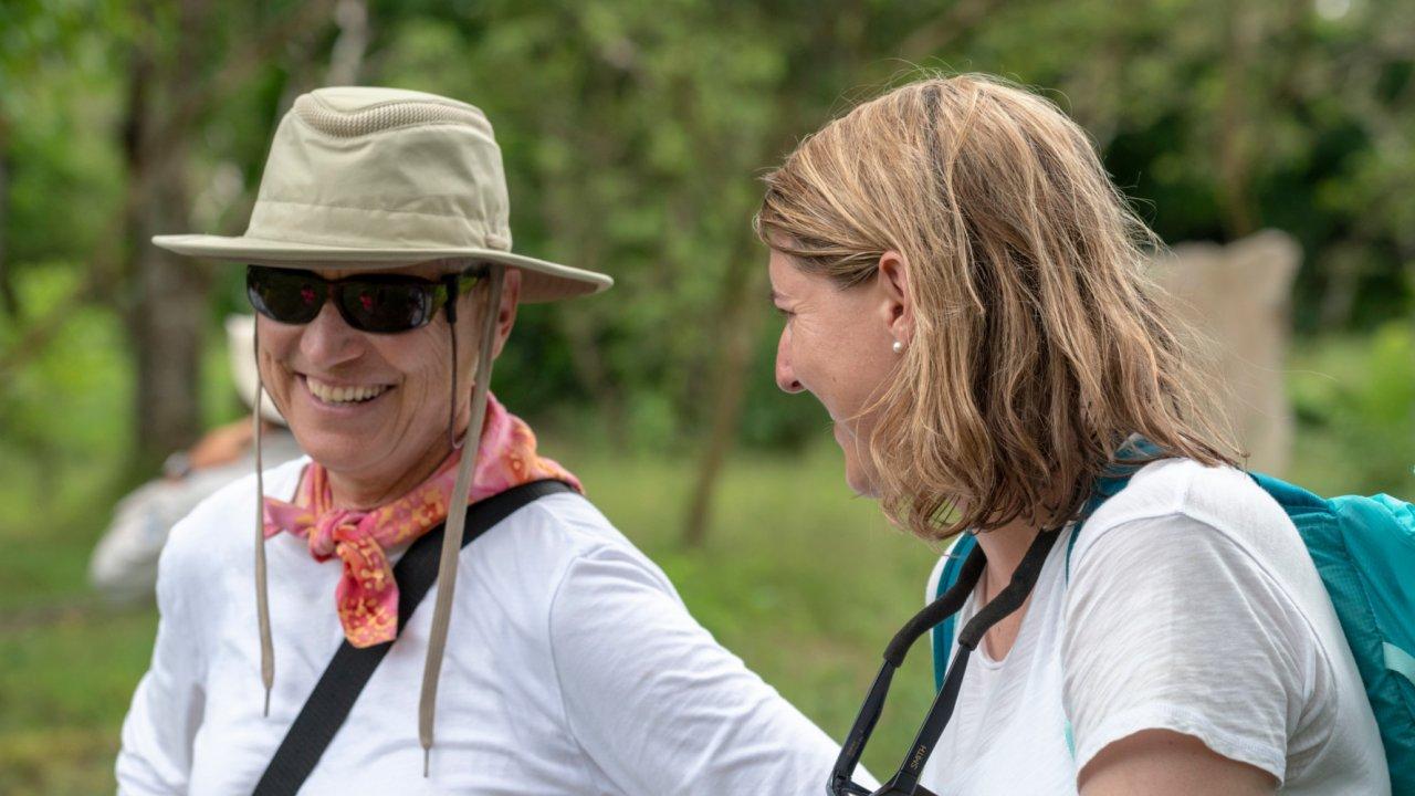 women in the galapagos