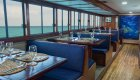 Dining aboard the Letty Yacht