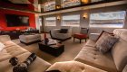 Living room aboard the MY Passion Yacht