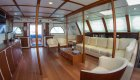 living room on sailing catamaran